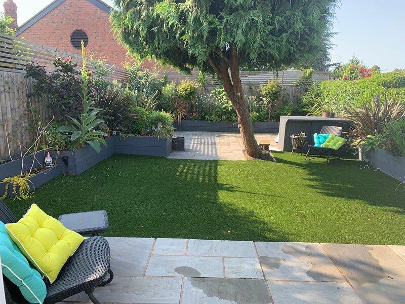 private enclosed south facing garden