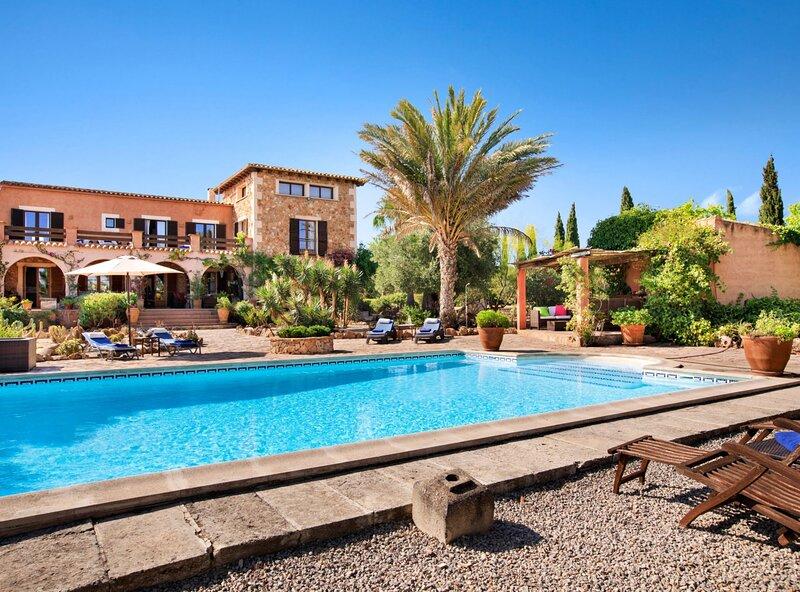 Finca Son Yador, wifi, piscina, barbacoa, aire acondicionado, aparcamiento, alquiler de vacaciones en Campos
