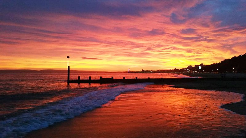 Sunset View to Bournemouth Pier