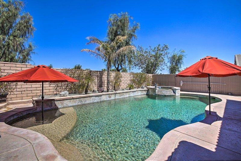 NEW! Private Desert Escape w/ Pool: Near Coachella, holiday rental in Coachella