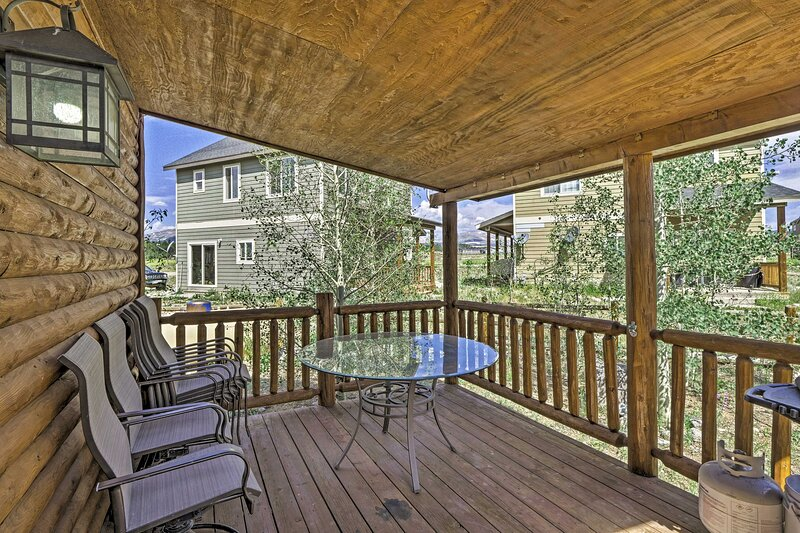 The property comes complete with a private deck.