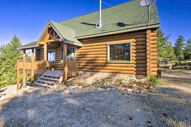 Enjoy a mountain getaway at this vacation rental.