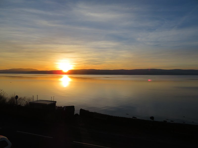 Stunning sunrise captured from the bedroom window
