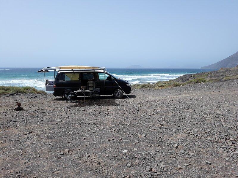 Camping by the Atlantic Ocean