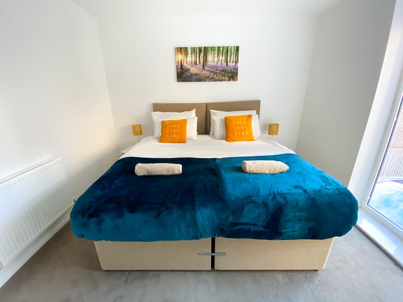 Zip link beds which can either be kept as two single beds or put together to form a king size bedZip
