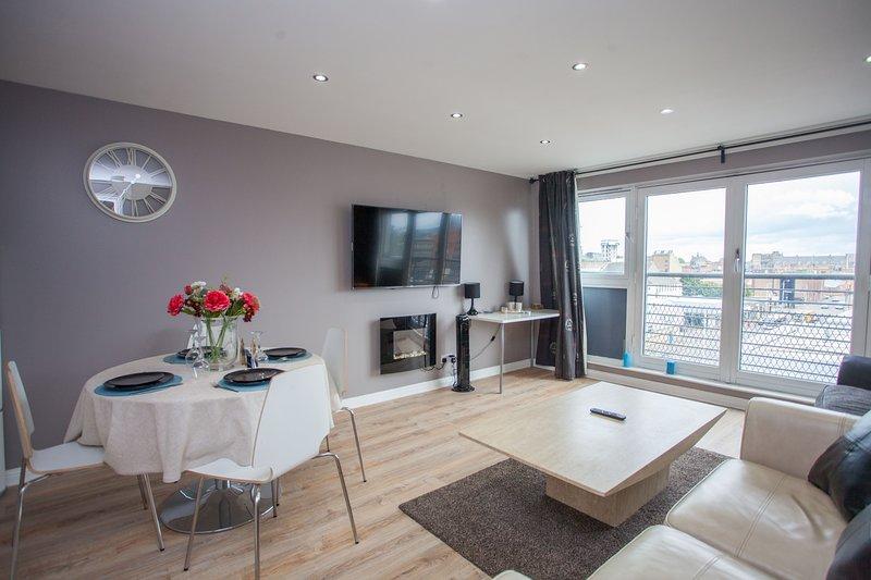 Modern 2 Bedroom Flat Close to the City Centre, location de vacances à Glasgow