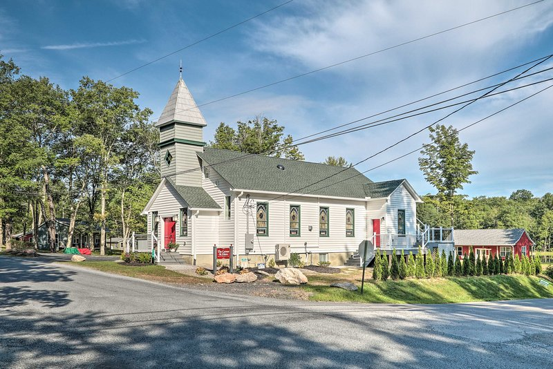 Pack your bags for a wonderful retreat to this 1871 historic church.