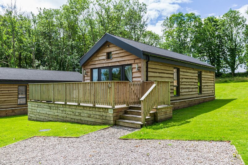 Squirrel Lodge 41 with Hot Tub, Newton Stewart, holiday rental in Creetown