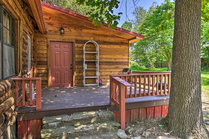 Spend time outdoors on the back deck.