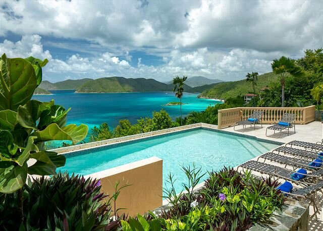 Villa Lantano: Luxury! Caribbean views from every room! Total Privacy!, vakantiewoning in Hawksnest Bay