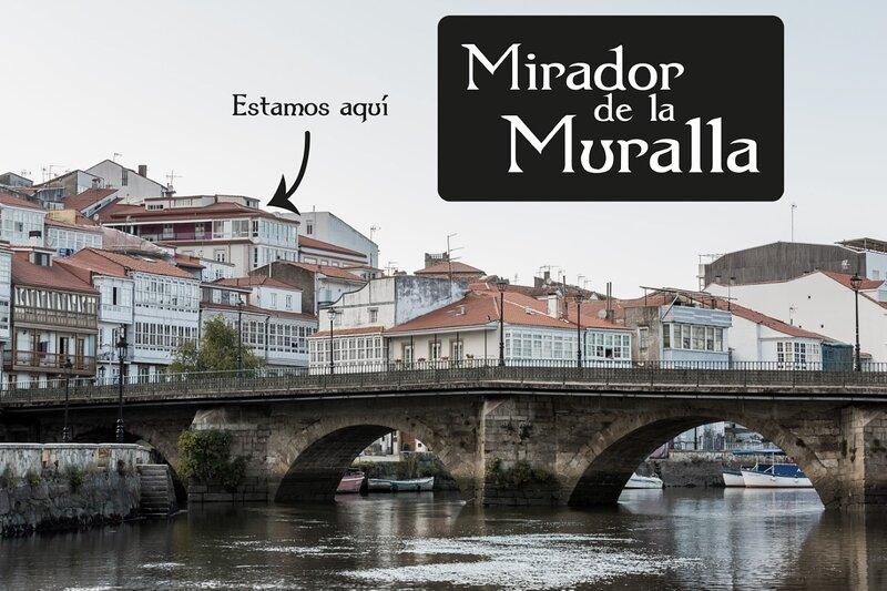 MIRADOR DE LA MURALLA-BETANZOS-GALICIA.Apartamento- balón-vistas(Casco histórico, holiday rental in Mino