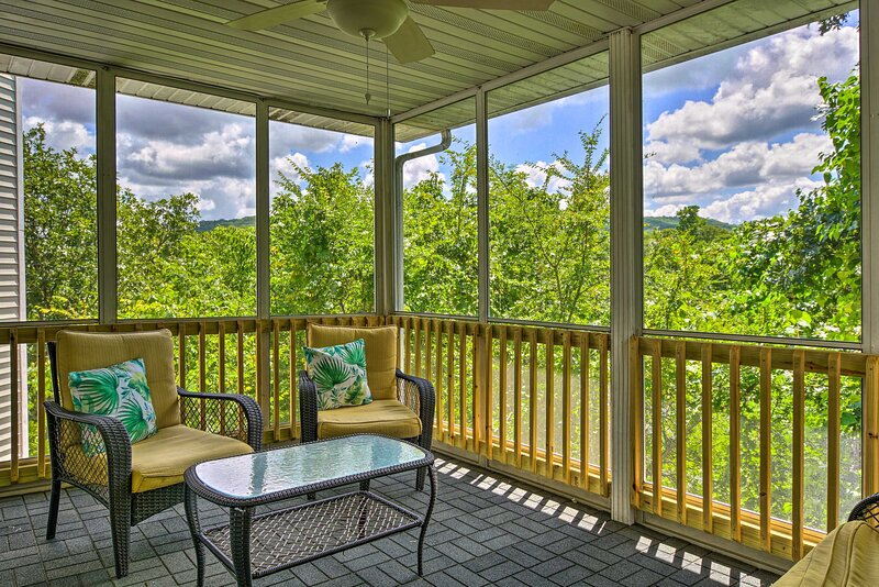 Enjoy quiet afternoons on the screened-in porch.