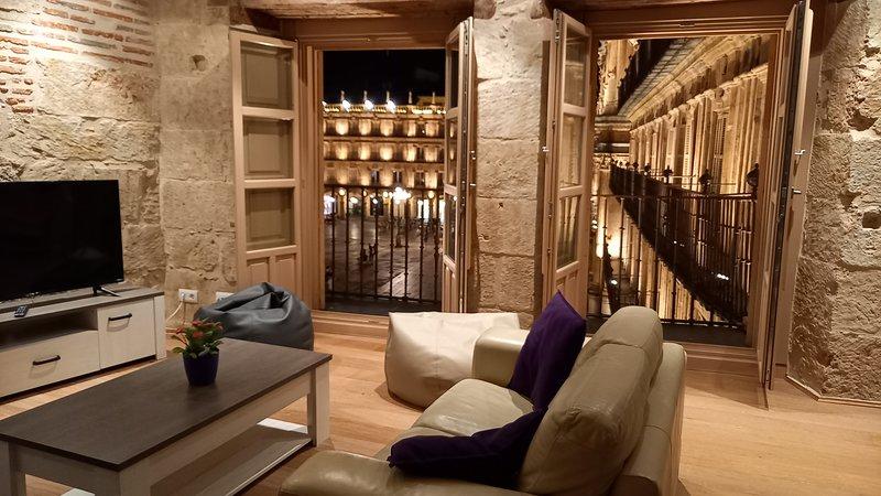 Apartamento en la misma Plaza Mayor de Salamanca, holiday rental in Roscales de la Pena