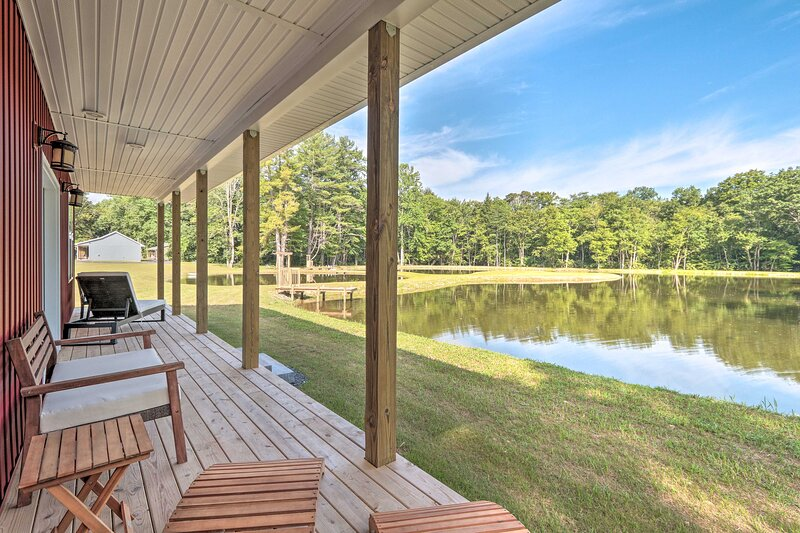 Spend quiet mornings on the covered porch.