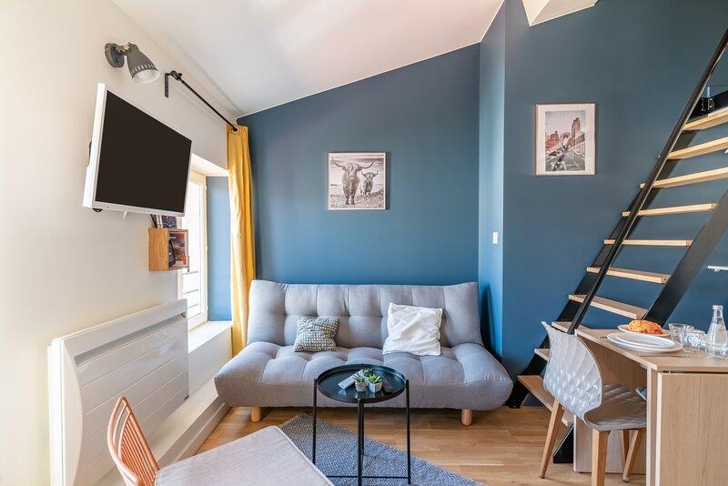 Le Petit Dupont - Ravissant Studio Quartier Croix Rousse, holiday rental in La Tour-de-Salvagny