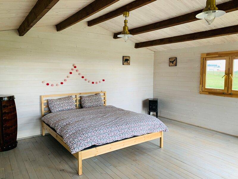 Wood house in Dvarcenai - Retreat in nature! – semesterbostad i Aukstadvaris