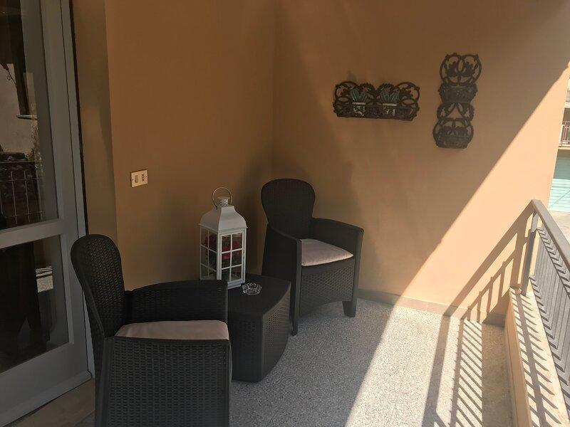 Terrazza della camera 3 con bagno condiviso