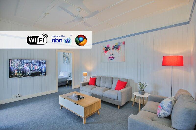 Park View from modern Queenslander styled unit, vacation rental in Burnett Heads