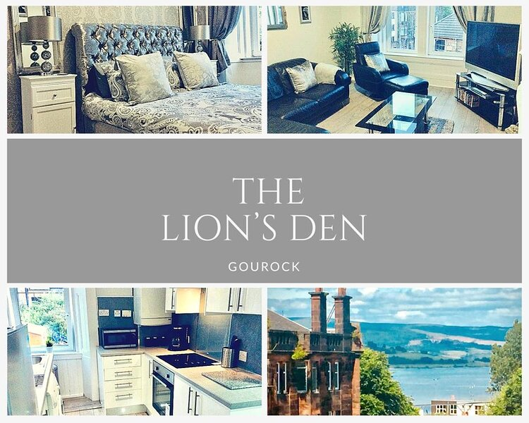 THE LION'S DEN ON ROYAL STREET IN COASTAL GOUROCK., vacation rental in Port Glasgow