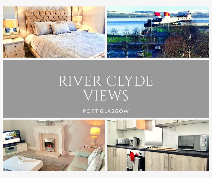 RIVER CLYDE VIEWS - PRIVATE APT, SWIMMING POOL, FITNESS GYM, SAUNA, STEAM ROOM., vacation rental in Port Glasgow