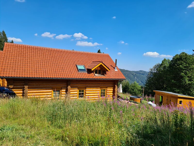 Blockhaus-Chalet Nr. 2 Ferienhaus Feldberg im Schwarzwald auf 1300m ü.M., holiday rental in Menzenschwand-Hinterdorf