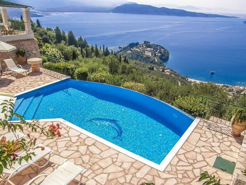 3 Bedroom Villa, Private Pool, Beautiful Sea Views, Vigla, Corfu, holiday rental in Vigla