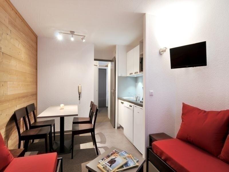 Studio rénové avec cabine de 23 m² pour 4 personnes au pied des pistes, vacation rental in Belle Plagne