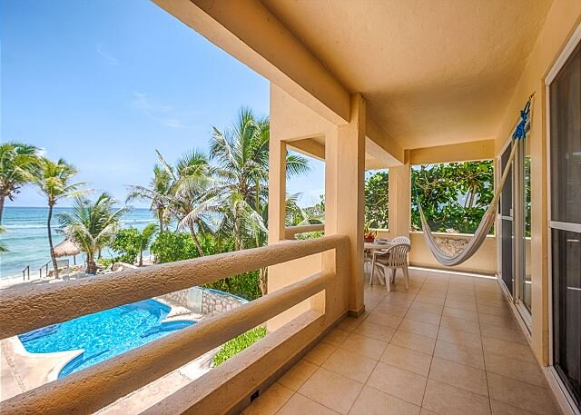 Pool and Beach Views from Tortuga Unit 4