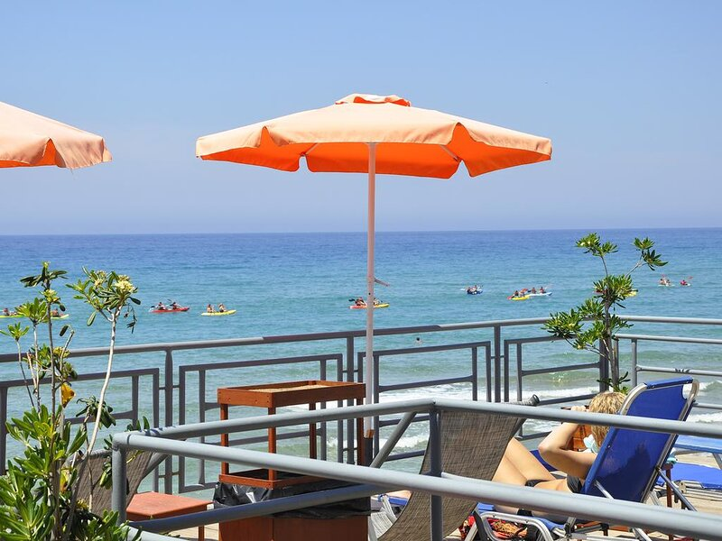 Sea View studio room for 4 people, 380m from the beach & near the village center, holiday rental in Agios Gordios