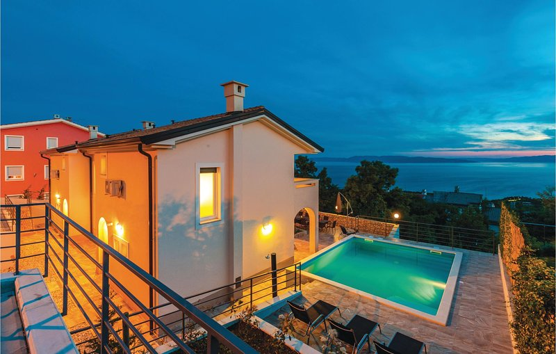 Stunning home in Kostrena with WiFi, 6 Bedrooms and Outdoor swimming pool (CKC74, holiday rental in Kostrena