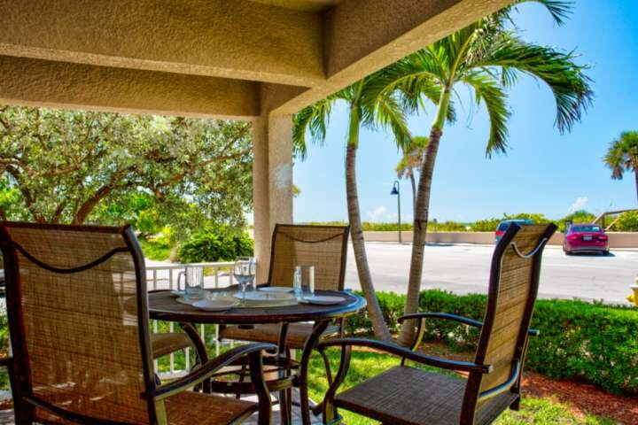 This ground floor condo is located directly across from the beautiful award winning beaches of St. Pete Beach