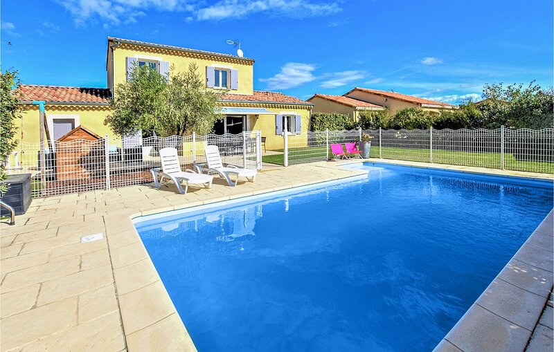 Beautiful home in Clleon D'Andran with Indoor swimming pool and 5 Bedrooms (FPD3, vacation rental in La Begude-de-Mazenc