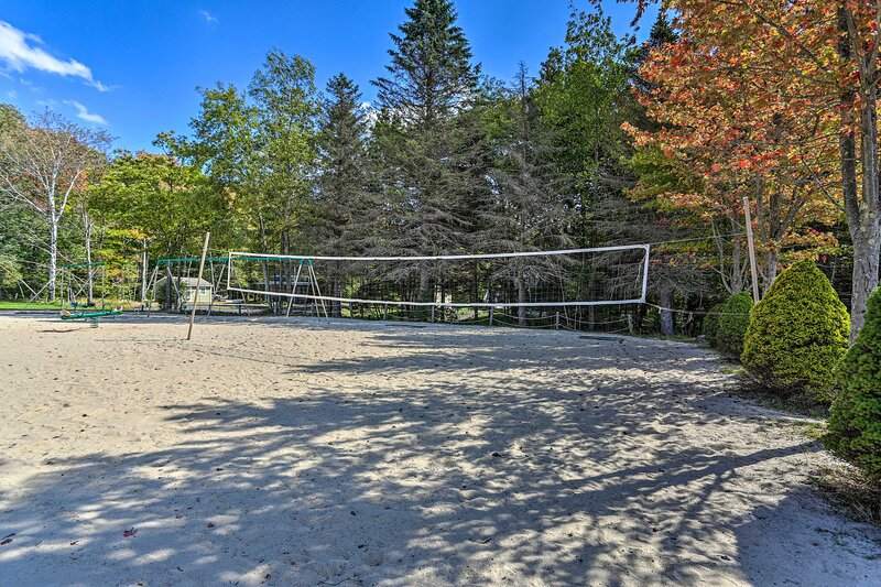 Get a team together for some beach volleyball!
