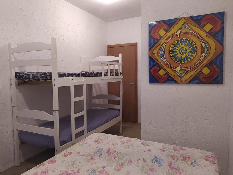 Tropical Feeling 4 persons room/ 1 queen bed and 2 single beds, holiday rental in Sao Joao do Rio Vermelho