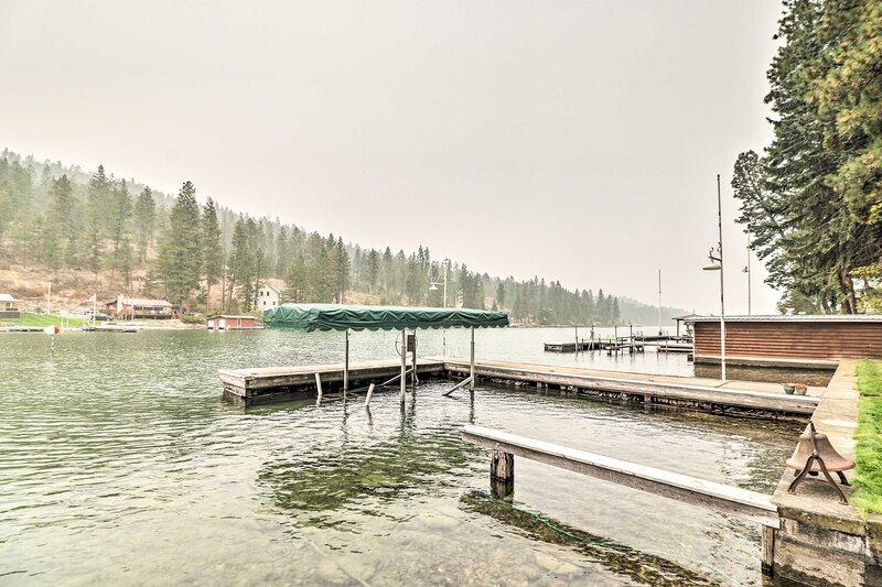This house boasts an unbeatable location on Flathead Lake!