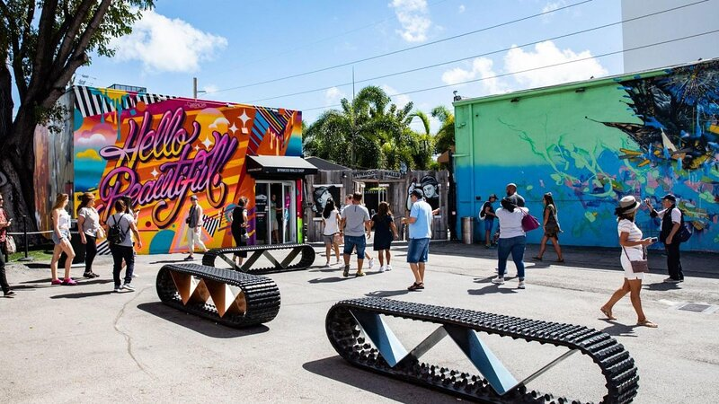 Wynwood Art District is home to art galleries, retail stores, antique shops, eclectic bars, artisanal eateries and open-air street-art installations.
