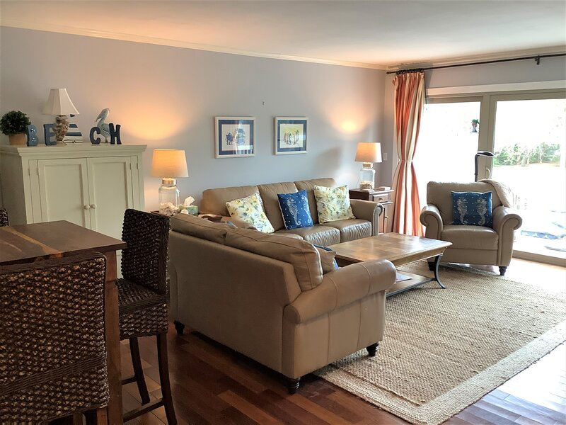 The Great Room has plenty of comfortable space to spread out and lounge around!
