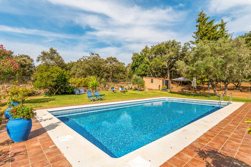 Amazing villa with swimming-pool, holiday rental in Galaroza