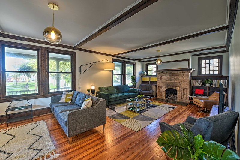 This vacation rental features brand new furnishings in a renovated interior.