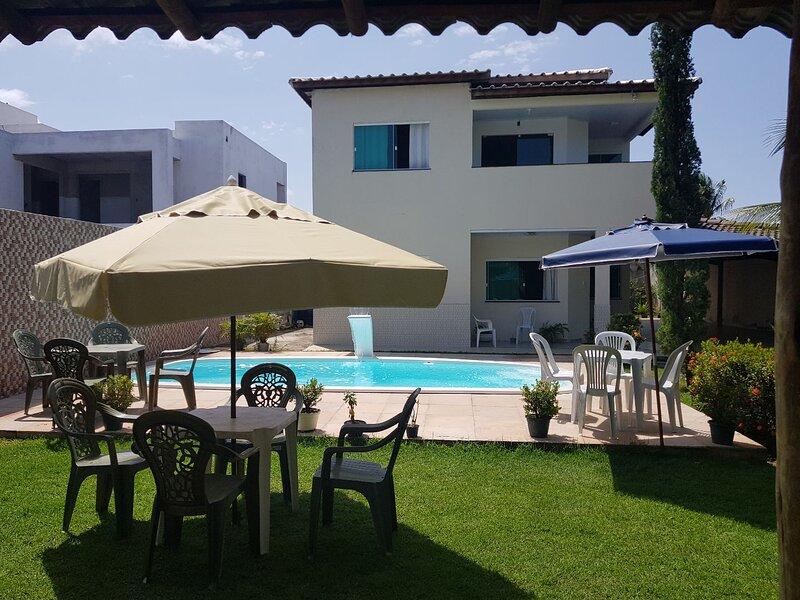 Casa em condomínio fechado com acesso a praia e ao Rio, location de vacances à Jenipabu