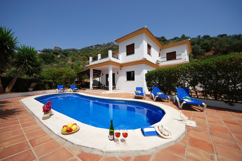 Villa El Torcal (10p) - private pool - airco - WIFI - pet friendly, holiday rental in Comares