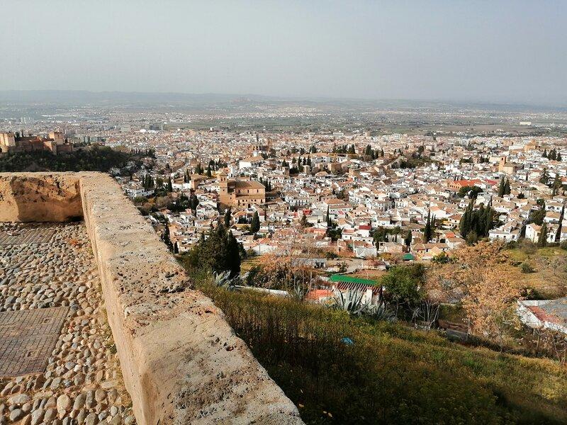 Vista de Albayzin desde mirador San Miguel (a 12 minutos de la casa, 1 km).