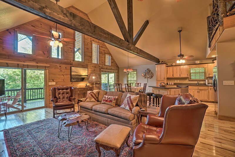 Book this Blairsville 4-bed, 3-bath vacation rental cabin for 8.