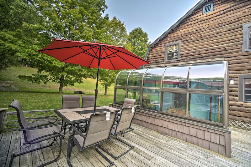 Enjoy sunny summer days on the private patio!