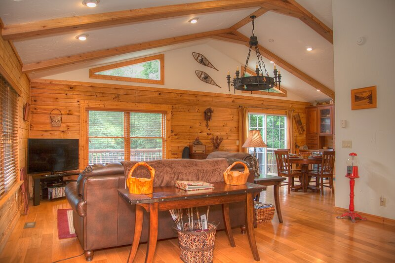 LUXE Cabin Less Then 3 Miles To Tryon Equestrian, vacation rental in Tryon