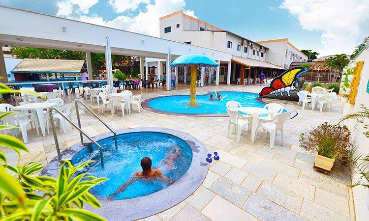 Flat Maravilhoso + Acesso Grátis a Parque Aquático, location de vacances à Caldas Novas
