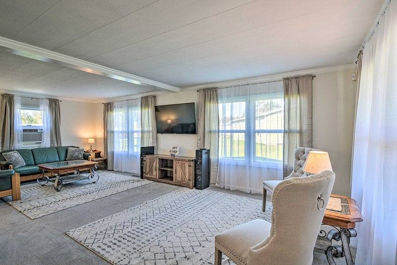 This updated smart home features all the modern amenities and comforts.