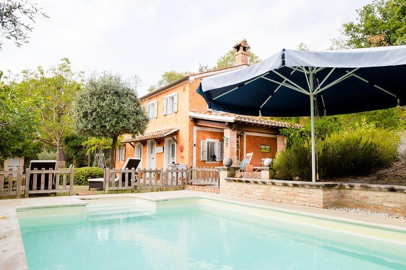 Home set in olive grove, holiday rental in Mondavio