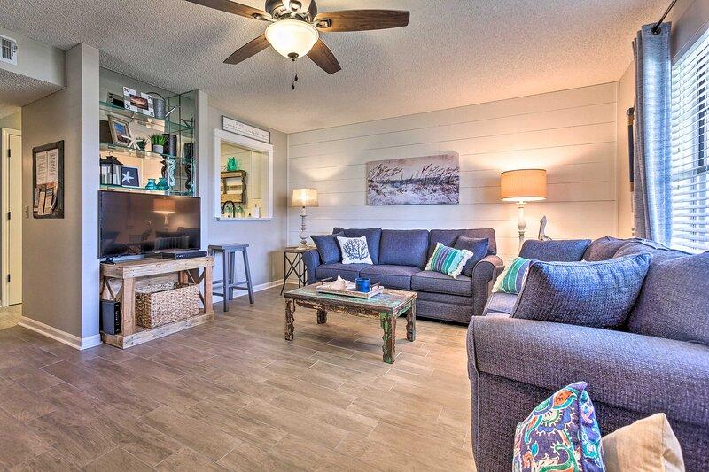 The Panama City Beach retreat features cozy comfort.