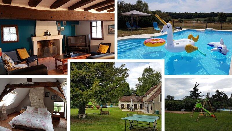 Domaine des Pacauderies -  Gîte de charme 3* avec piscine privative, casa vacanza a Ferriere-Larcon
